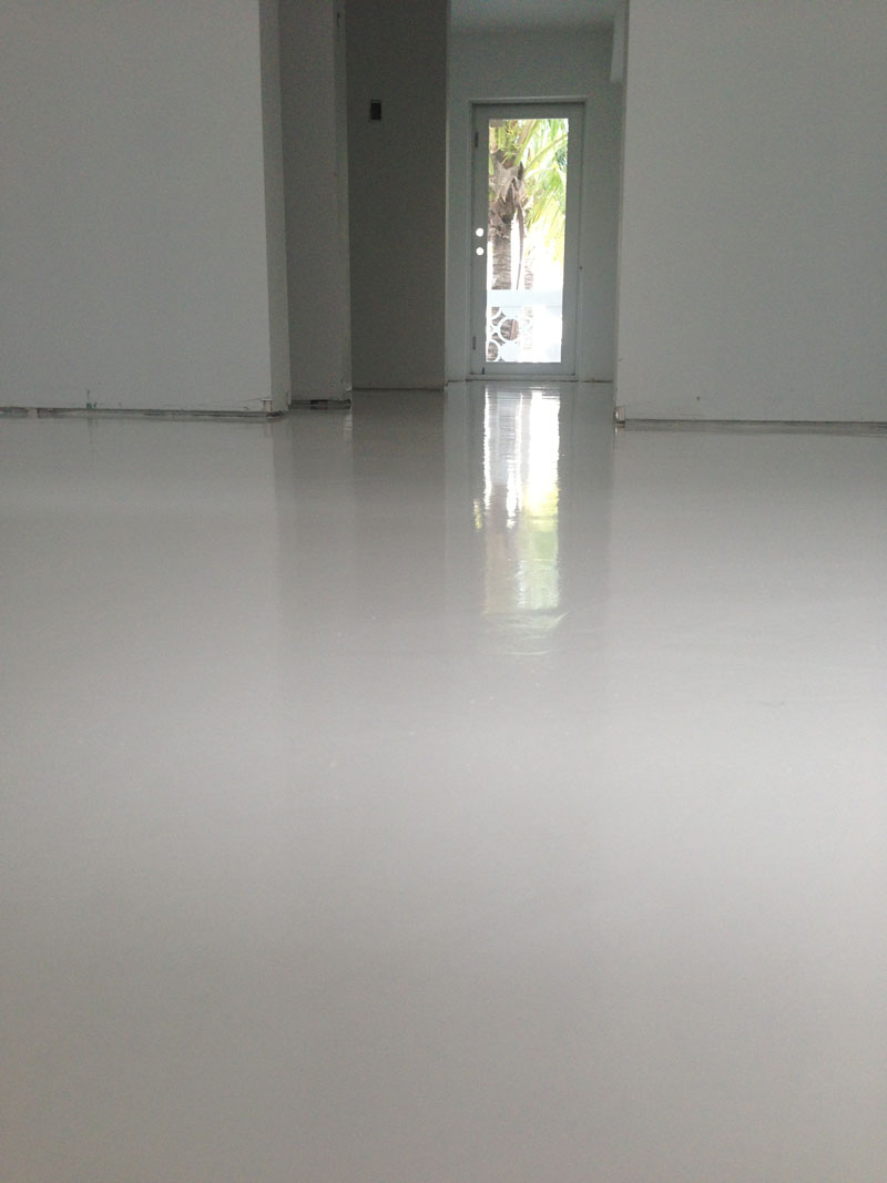 Parking Lot Restoration  Showroom White Urethane. Polished Concrete   Micro Topping in Miami   Polished Concrete Miami