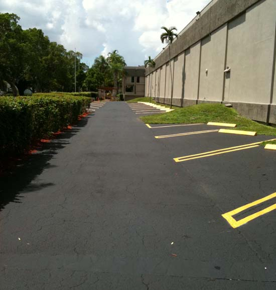 Asphalt Seal Coating & Striping