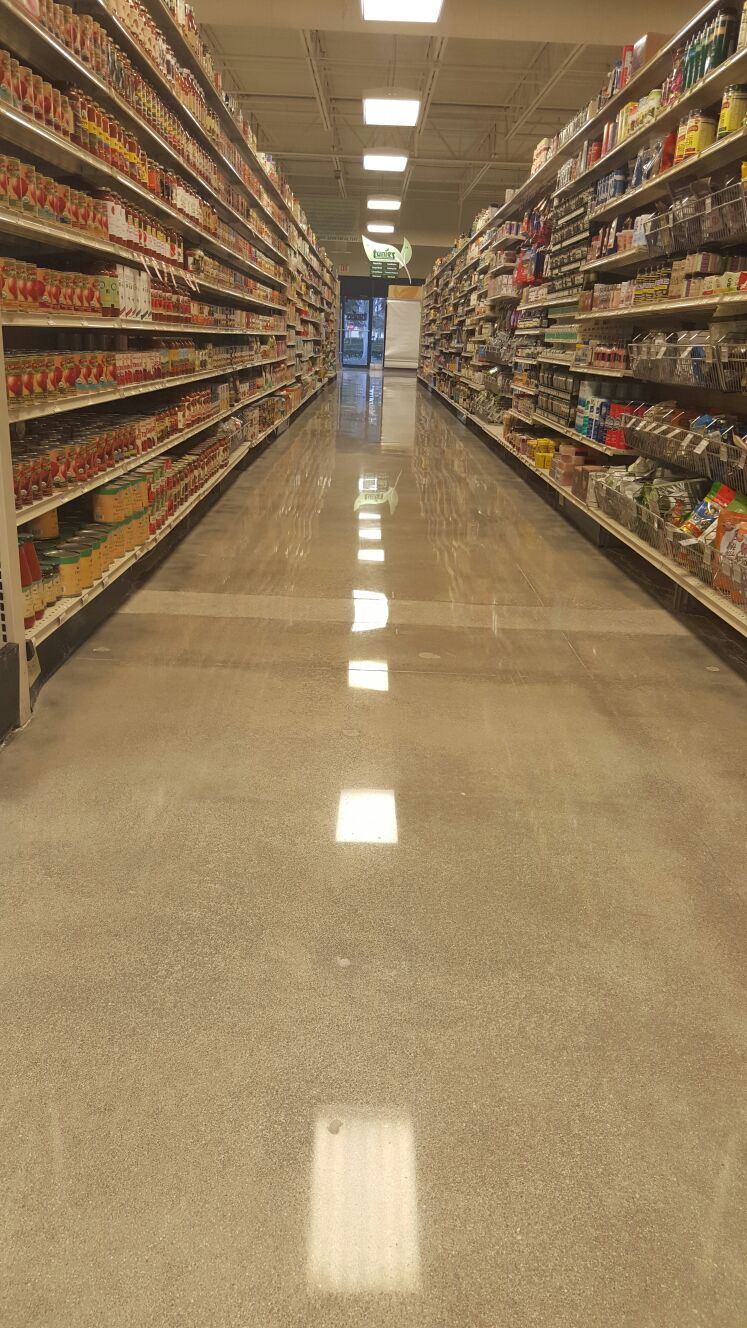 Tunnies Supermaket Polished Concrete Amp Micro Topping In