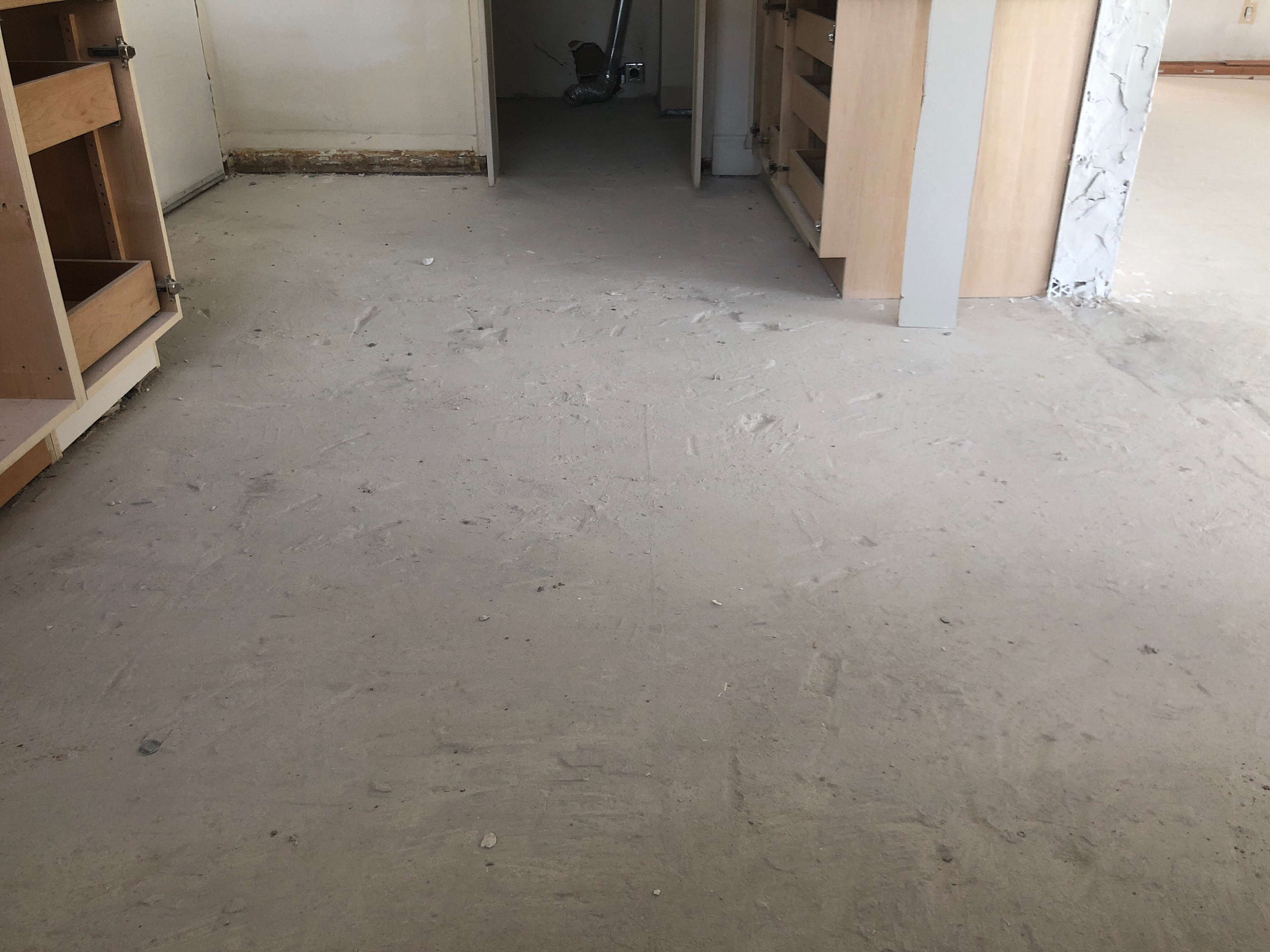 private apartment microtopping polished concrete micro